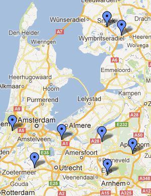 Objecten in Google Maps