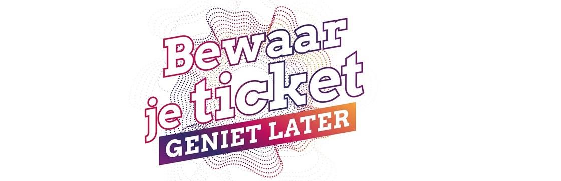 Bewaar je ticket logo